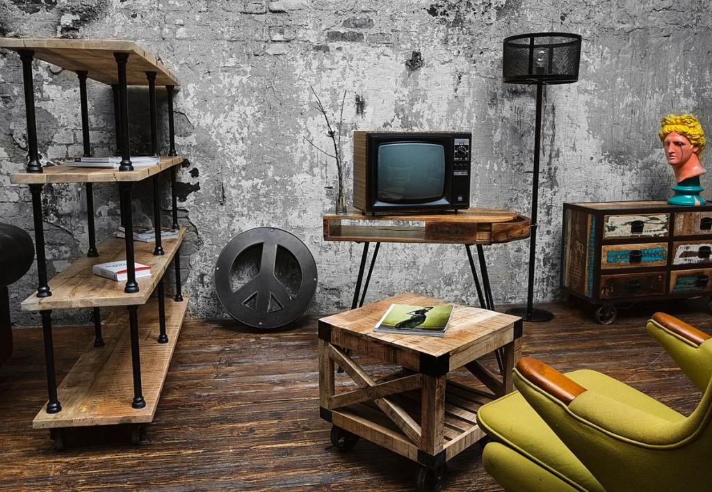 стиль лофт в мебели