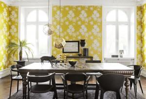 гостиная в желтом цвете