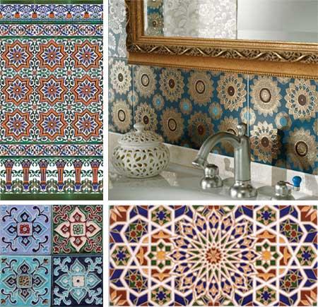 Плитка в ванную в восточном стиле