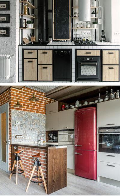 кухня в лофтовом стиле