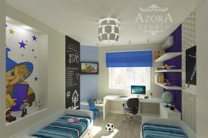 дизайн интерьера детской комнаты для мальчиков