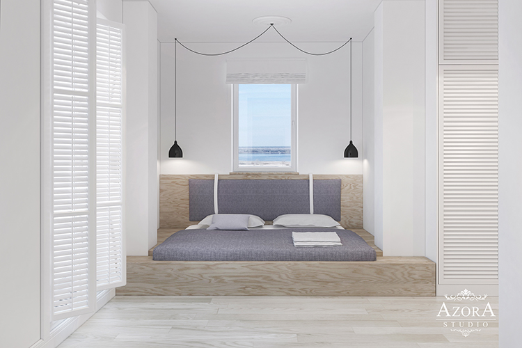 интерьер спальни вид 2