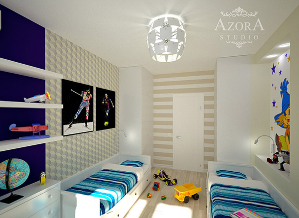 детская комнаты для близнецов