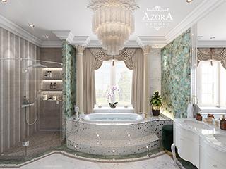 ванная комната с колоннами